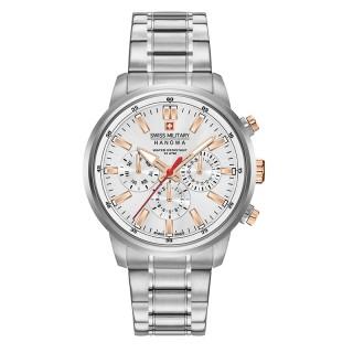 Muški Swiss Military Horizon Beli Elegantni ručni sat sa metalnim kaišem
