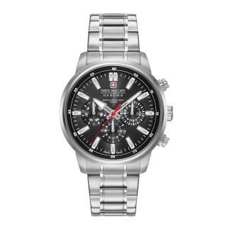 Muški Swiss Military Horizon Crni Elegantni ručni sat sa metalnim kaišem