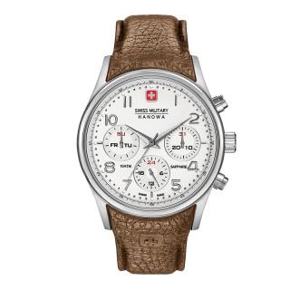 Muški Swiss Military Navalus Multifunction Beli Elegantni ručni sat sa braon kožnim kaišem