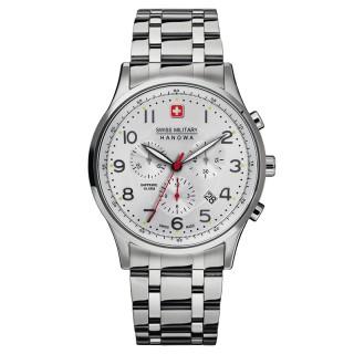 Muški Swiss Military Patriot Chrono Beli Elegantni ručni sat sa metalnim kaišem