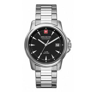 Muški Swiss Military Recruit Prime Crni Elegantni ručni sat sa metalnim kaišem