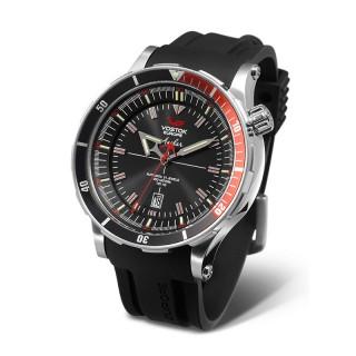 Muški Vostok Europe Anchar Automatik Srebrni Sportski ručni sat sa gumenim i kožnim kaišem