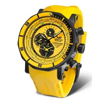 Muški Vostok Europe Chronograph Lunokhod 2 Pro Diver Perpetual Calendar Alarm Žuti Ronilački Ručni Sat