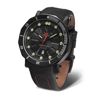 Muški Vostok Europe Lunokhod 2 Automatik Crni Sportski ručni sat sa crnim kožnim kaišem