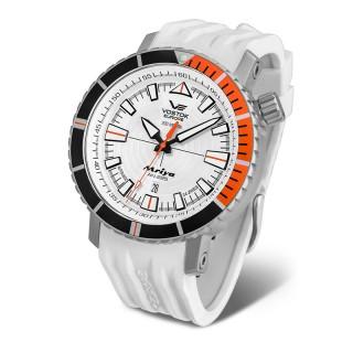 Muški Vostok Europe Mriya Automatik Beli Sportski ručni sat sa gumenim i kožnim kaišem