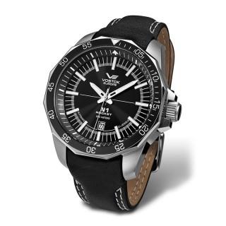 Muški Vostok Europe N1 Rocket Automatik Crni Elegantni ručni sat sa crnim Kožnim Kaišem