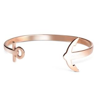 Paul Hewitt Ancuff Roze Zlatna sidro narukvica od hirurškog čelika S