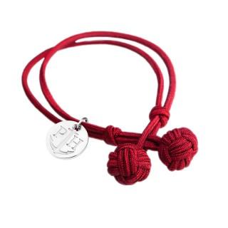 Paul Hewitt Knotbracelets Crvena Čvor narukvica sa srebrnim priveskom L