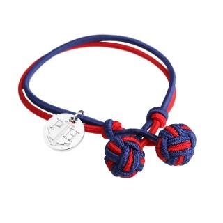 Paul Hewitt Knotbracelets Crveno Plava Čvor narukvica sa srebrnim priveskom L