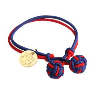 Paul Hewitt Knotbracelets Crveno Plava Čvor narukvica sa zlatnim priveskom S