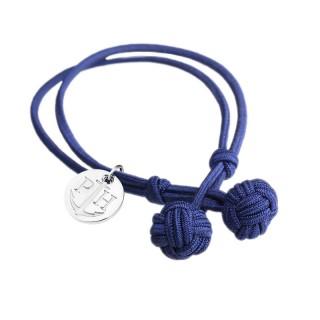 Paul Hewitt Knotbracelets Plava Čvor Narukvica Sa Srebrnim Priveskom L