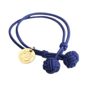Paul Hewitt Knotbracelets Plava Čvor Narukvica Sa Zlatnim Priveskom L