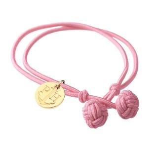 Paul Hewitt Knotbracelets Roze Čvor narukvica sa zlatnim priveskom L