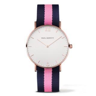 Paul Hewitt Sailor Line Beli Roze Zlatni ručni sat sa roze plavim nato kaišem