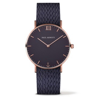 Paul Hewitt Sailor Line Plavi Roze Zlatni ručni sat sa plavim perlon kaišem