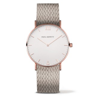 Paul Hewitt Sailor Line Beli Roze Zlatni ručni sat sa bež perlon kaišem