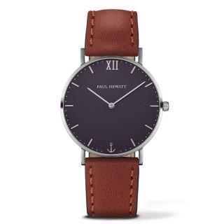 Paul Hewitt Sailor Line Plavi Srebrni ručni sat sa braon perlon kaišem