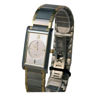 Royal London Vintage Sivi  Elegantni Zlatni Kvadratni ručni sat sa metalnim kaišem