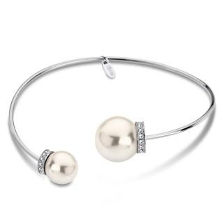 Ženska Lotus Style Pearls Bela Narukvica od hirurškog čelika Perla