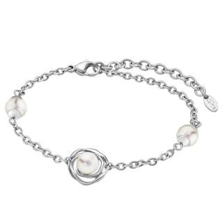 Ženska Lotus Style Pearls Lančić Narukvica Od hirurškog Čelika Galaksija Bisera