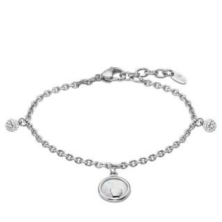 Ženska Lotus Style Woman's Heart Lančić Narukvica Od hirurškog Čelika Srce u Sedef Prstenu