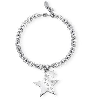 Ženska Narukvica Kristalne Zvezdice Like A Star 2Jewels Od Hirurškog Čelika