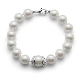 Ženska Oliver Weber Bright Pearl Crystal narukvica sa belim swarowski perlama