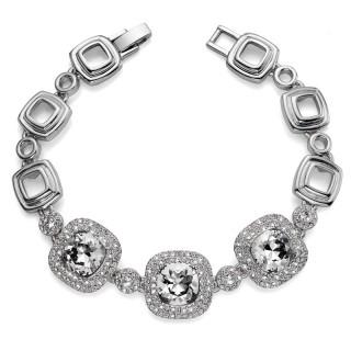 Ženska Oliver Weber Autentic Crystal narukvica sa swarovski belim kristalom