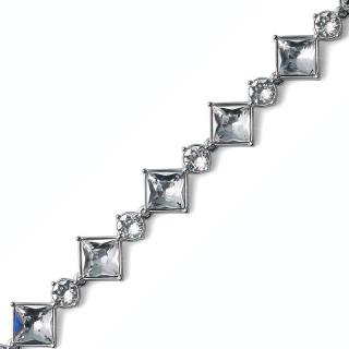 Ženska Oliver Weber Graceful Crystal narukvica sa swarovski belim kristalom