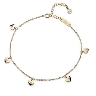 Ženska Oliver Weber Love Steel Gold Zlatna Narukvica Za Nogu Od Hirurškog Čelika Sa Swarovski Zirconia