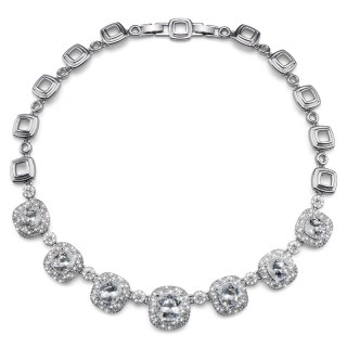 Ženska Oliver Weber Autentic Crystal Ogrlica sa swarovski belim kristalom