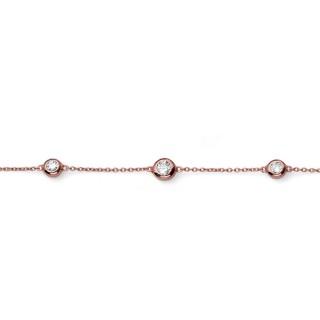 Ženska Oliver Weber Tres 925Ag Rose Gold Crystal Roze Zlatna Srebrna Narukvica Sa Swarovski Kristalom