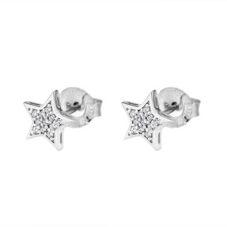 Ženske Lotus Silver Pure Essential Srebrne Minđuše Kristalne Zvezdice