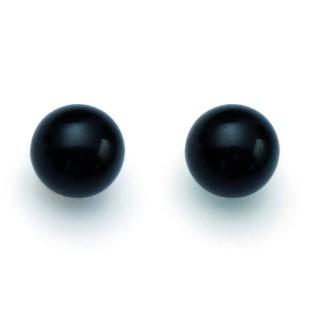 Ženske Oliver Weber Pearl Sissi Mystic Black mindjuše sa crnim swarowski perlama