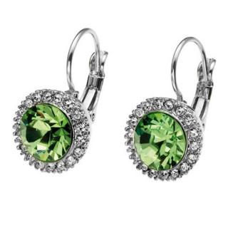 Ženske Oliver Weber More Peridot mindjuše sa swarovski zelenim kristalom
