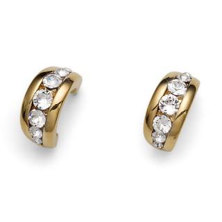 Ženske Oliver Weber Slip Gold Crystal Zlatne mindjuše sa swarovski belim kristalom