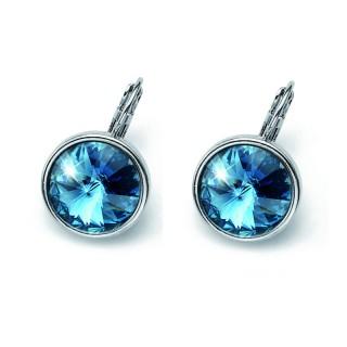 Ženske Oliver Weber Fun Denim Blue Minđuše Sa Swarovski Plavim Kristalom