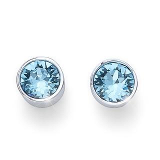 Ženske Oliver Weber Uno Aqua mindjuše sa swarovski plavim kristalom