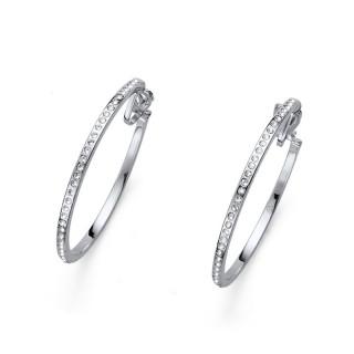 Ženske Oliver Weber Clip Hoop Grande Crystal mindjuše sa swarovski belim kristalom