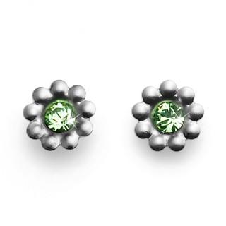 Ženske Oliver Weber Blumy Titan Peridot mindjuše sa swarovski zelenim kristalom