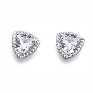 Ženske Oliver Weber Dazzle 925Ag Crystal Srebrne Minđuše Sa Swarovski Belim Kristalom