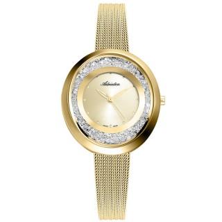Ženski Adriatica Precious Swarovski Ovalni Šampanj Zlatni Modni Ručni Sat Sa Zlatnim Pancir Kaišem