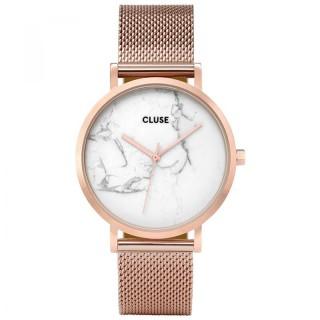 Ženski Cluse La Roche Marble Roze Zlatni Ručni Sat Sa Roze Zlatnim Pancir Kaišem