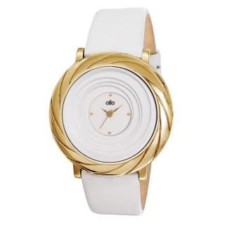 Ženski Elite Elegantni Zlatni ručni sat sa belim kaišem