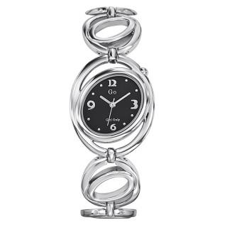 Ženski Girl Only Cercle Crni Elegantni Ovalni ručni sat sa metalnim kaišem