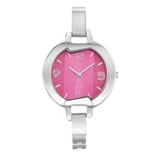 Ženski Girl Only Cercle Jarko Roze Elegantni ručni sat sa metalnim kaišem