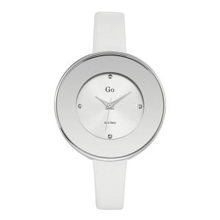 Ženski Girl Only Eblouis moi Sivi Elegantni ručni sat sa belim kožnim kaišem