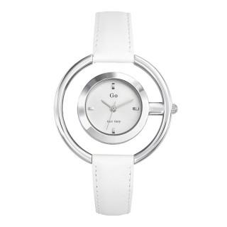 Ženski Girl Only Eblouis moi Krug Beli Elegantni ručni sat sa belim kožnim kaišem
