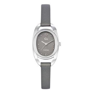 Ženski Girl Only Eblouis moi Sivi Elegantni Ovalni ručni sat sa sivim kožnim kaišem