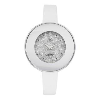 Ženski Girl Only Eblouis moi Pesak Beli Modni ručni sat sa belim kožnim kaišem